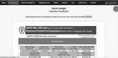 UAN passbook download