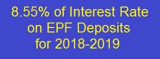 EPF Interest Rate 2018-2019