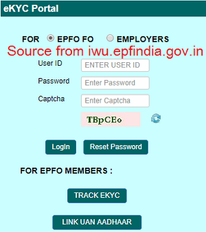 link aadhaar number to uan at iwu.epfindia.gov.in
