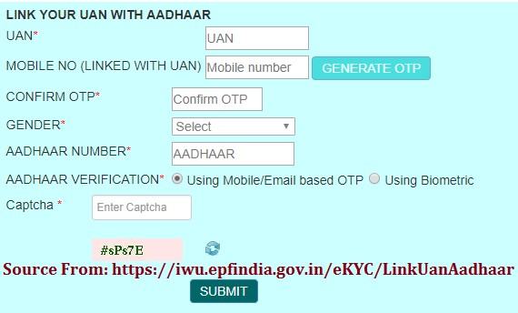link your uan with aadhaar